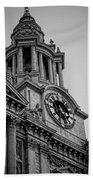 St Pauls Clock Tower Beach Towel