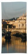 St Peter Morning Glow - Impressions Of Rome Beach Towel