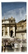 St Peters Square - Vatican Beach Towel by Jon Berghoff