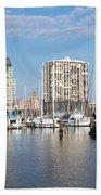 St Petersburg Yacht Basin Beach Towel
