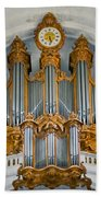 St Roch Organ In Paris Beach Towel
