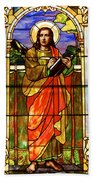 St. Stan's Stained Glass Beach Towel