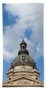 St. Stephen's Basilica Dome And Bell Towers Beach Towel