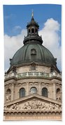 St. Stephen's Basilica Dome In Budapest Beach Towel