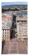 St Stephen's Square In Budapest Beach Towel