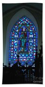 St Thomas Stained Glass Beach Towel