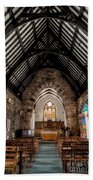 St Tudcluds Church Beach Towel by Adrian Evans