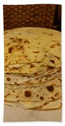 Stack Of Lefse Rounds Beach Towel
