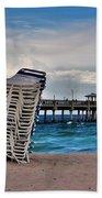 Stacked Beach Chairs Beach Towel