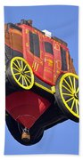 Stagecoach In The Sky Beach Towel