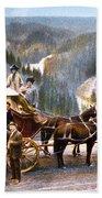 Stagecoach Near Upper Falls Beach Towel