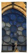 Stain Glass Church Window Beach Towel