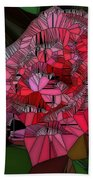 Stain Glass Rose Beach Towel
