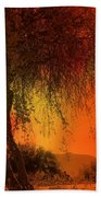 Stained By The Sunset Beach Towel