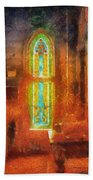 Stained Glass 05 Photo Art Beach Towel