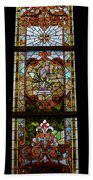Stained Glass 3 Panel Vertical Composite 06 Beach Towel