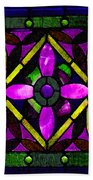 Stained Glass 3 Beach Towel