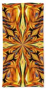 Stained Glass Abstract Beach Towel