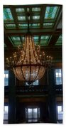 Stained Glass And Chandelier  Beach Towel