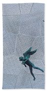 Stained Glass Angels Beach Towel