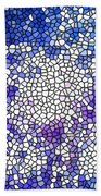 Stained Glass Beautiful Fireworks 1 Beach Towel