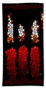 Stained Glass Candle Beach Towel