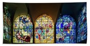 Stained Glass Chagall Windows Beach Towel