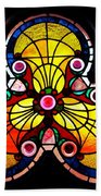 Stained Glass  Beach Towel by Chris Berry