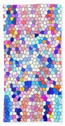 Stained Glass Colorful Cross Beach Towel