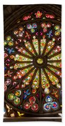 Stained Glass Details Beach Towel