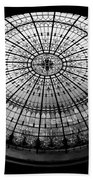 Stained Glass Dome - Bw Beach Towel