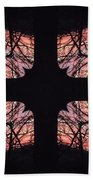 Stained Glass Beach Towel