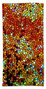 Stained Glass Fall Orange Maple Tree Beach Sheet