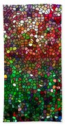 Stained Glass  Fall Reflected In The Still Waters Beach Towel