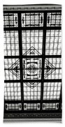 Stained Glass Hoboken Terminal Beach Towel