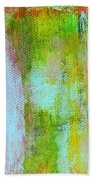 Stained Glass Houses Beach Towel