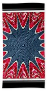 Stained Glass Lace - Kaleidoscope Beach Towel