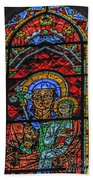 Stained Glass Of Chartres Beach Towel