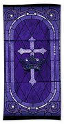 Stained Glass - Purple Beach Towel
