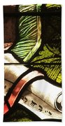 Stained Glass Scroll Beach Towel