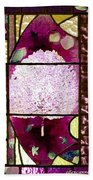 Stained Glass Template Magnolia Glory Beach Towel