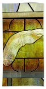 Stained Glass Template Maple Seedling Beach Towel