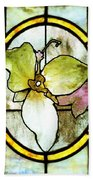 Stained Glass Template Woodlands Flora Beach Towel