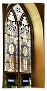 Stained Glass Window In Arch Beach Towel