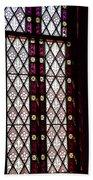 Stained Glass Window In Saint Paul's Episcopal Church-1882 In Tombstone-az Beach Towel