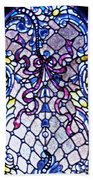 Stained Glass Window Beach Towel