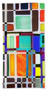 Stained Glass Window Multi-colored Abstract Beach Towel