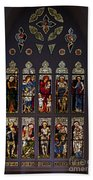 Stained Glass Window The Huntington Library Beach Towel