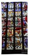 Stained Glass Window Xi Beach Towel