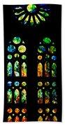 Stained Glass Windows - Sagrada Familia Barcelona Spain Beach Towel